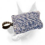 Doberman Dog Training French Linen Pocket Bite Tug with Small Loop