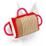 Training Dog Pillow with Jute Cover and Handles