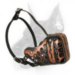 'Magma' Handpainted Agitation Training Doberman Dog Muzzle'