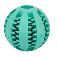 Better Dental Hygiene Rubber Blue Colored Ball for Doberman (2 inches) - Small