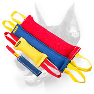 Doberman Dog Professional Training Set of French Linen Tugs + One Tug as a Gift (Value $7.90)