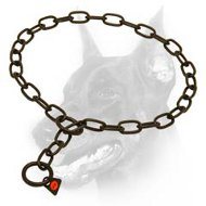 Doberman Dog Stainless Steel Fur Saver in Black