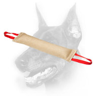 Doberman Dog Jute Bite Tug with Two Comfy Handles