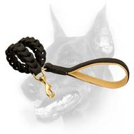 Unique Handmade Leather Dog Leash with Padded Handle