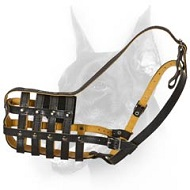 Doberman Dog Multifunctional Leather Dog Muzzle Lightweight & Breathable
