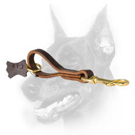 Convenient Doberman Dog Short Leash with O-ring on the Handle