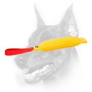 Doberman Puppy Convenient French Linen Bite Tug with Nylon Handle