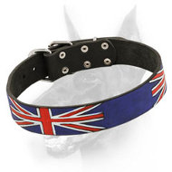 """United Kingdom Pride"" Hand-painted Doberman Dog Collar"