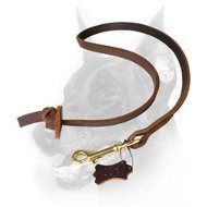 Doberman Dog Short Leather Leash for Heeling