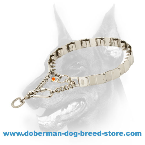 Metal Neck Tech Prong Doberman Collar for Training