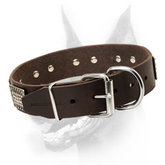 Doberman Leather Collar for Perfect fit