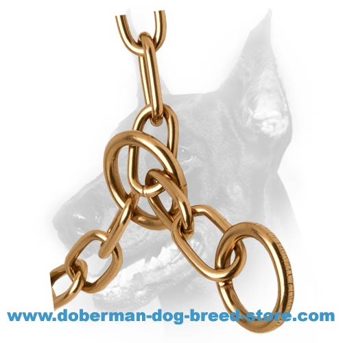 Doberman dog fur saver for easy and non-painful education and walks
