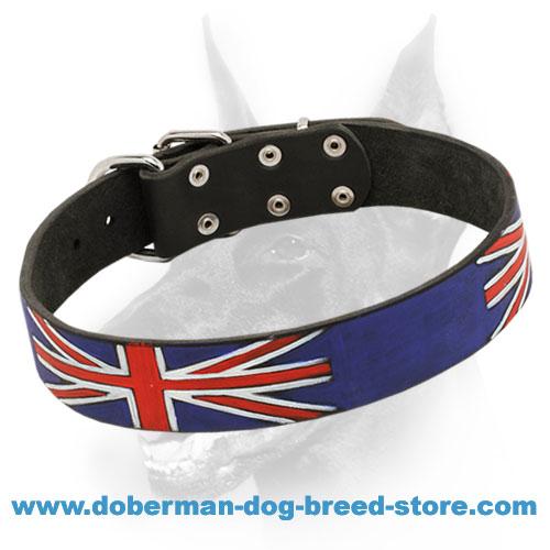 Leather Doberman Dog Collar For Everyday Use