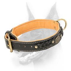 Simply beautiful Doberman collar made of leather