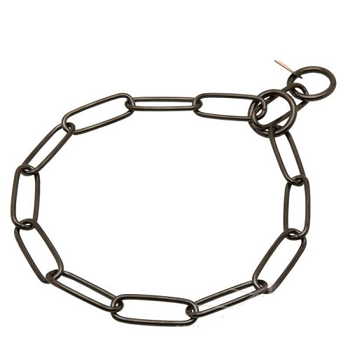 Doberman dog choke fur saver with two rings