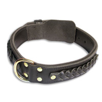 Gorgeous Wide 2 Ply Leather Doberman Collar