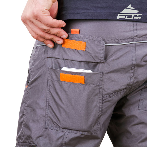 Comfy Design FDT Pro Pants with Durable Back Pockets for Dog Trainers