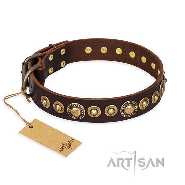 Best quality full grain leather collar handmade for your pet