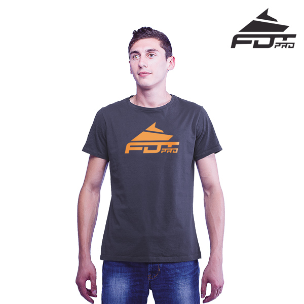 Strong Cotton FDT Professional Men T-shirt of Dark Grey
