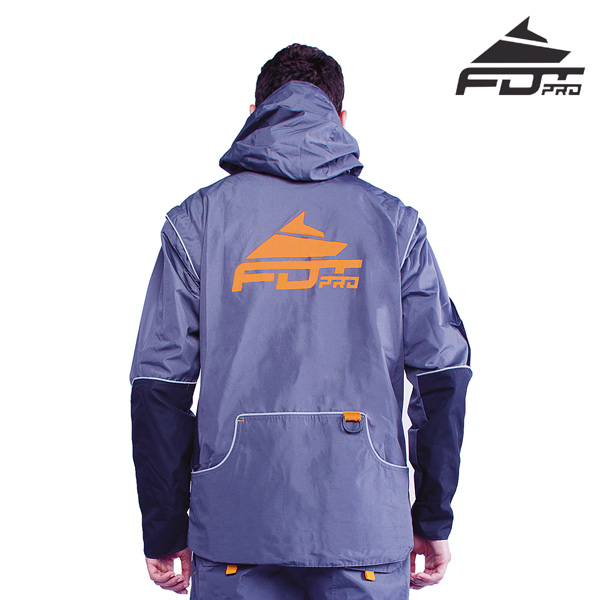 FDT Pro Dog Tracking Jacket Grey Color with Reliable Side Pockets