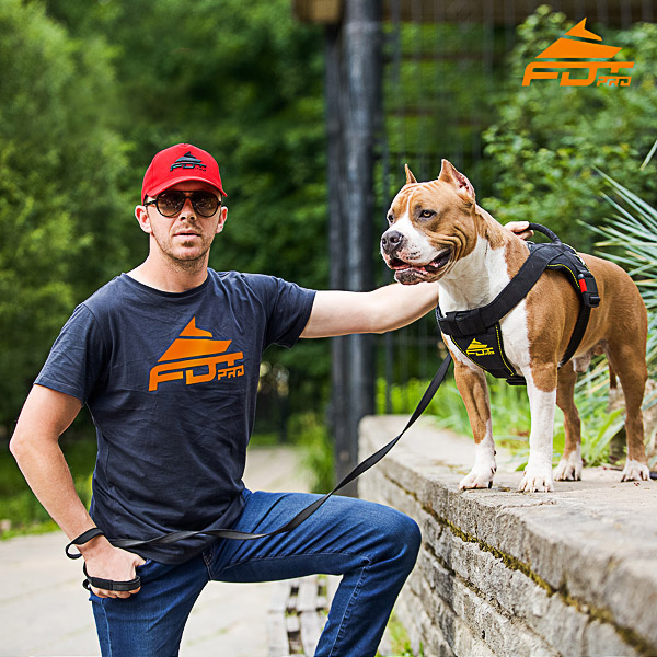 Men T-shirt of High Quality Cotton with FDT Professional Logo for Dog Trainers