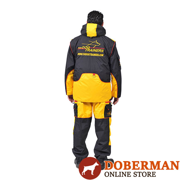 Membrane Fabric Dog Training Suit with Back Pockets