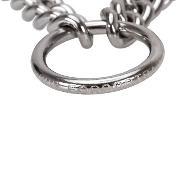 Dependable stainless steel prong collar with O-ring