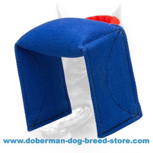 Doberman Dog bite pad stuffed with dog friendly material