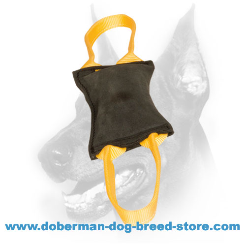 Doberman dog safe Bite Tug of natural material