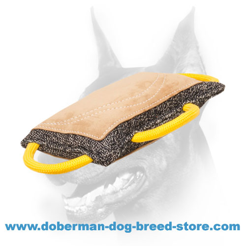 Doberman Dog high-quality bite pad equipped with 3 ergonomic handles