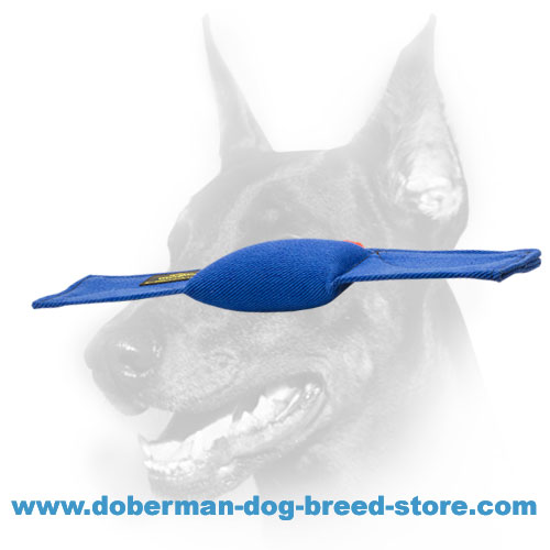 Doberman dog bite pad with full-grab handle