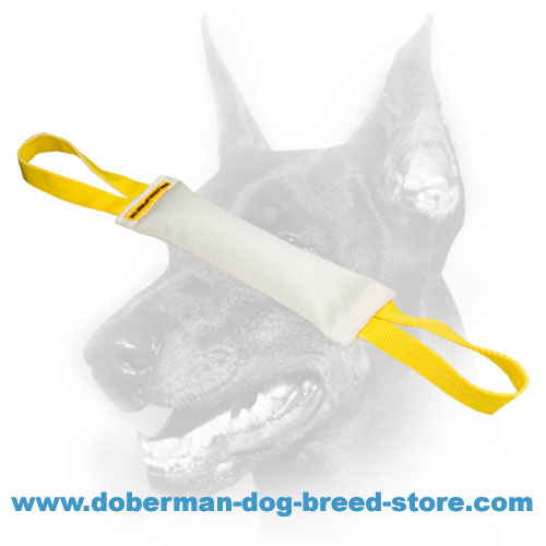 Doberman dog safe Bite Tug 12 inch(30 cm) long