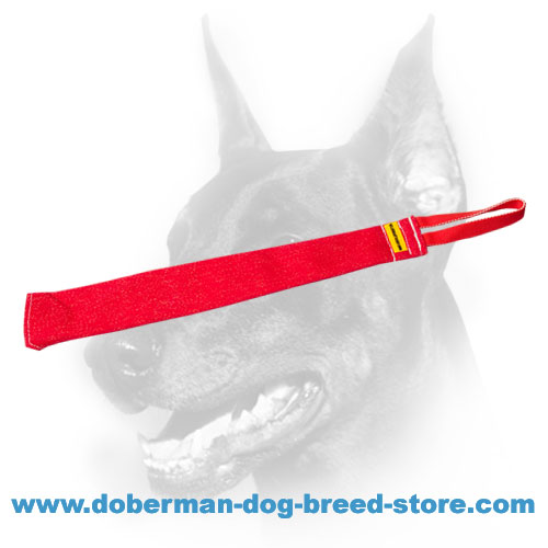 Doberman Dog French linen rag for Schutzhund training