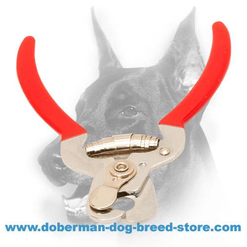 Nail clipper with reliable vinyl handles for Doberman care