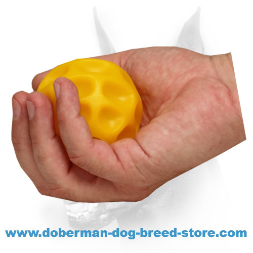 Doberman dog rubber ball dishwasher safe