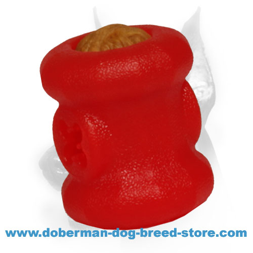 Doberman dog rubber toy dishwasher safe
