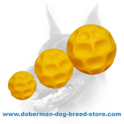 Doberman dog rubber balls - excellent reward toys