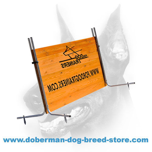 Doberman dog training barrier, stable construction