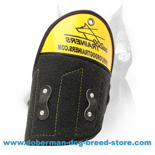 Doberman dog training shoulder protector of special NK-materials