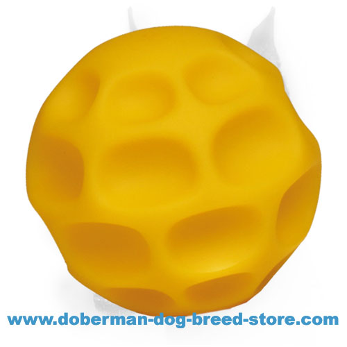 Doberman dog rubber ball of durable and safe material