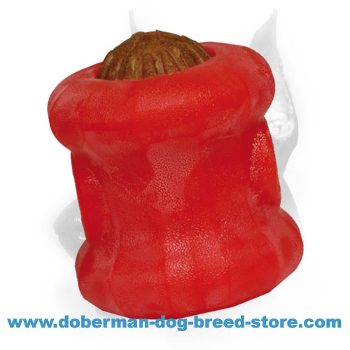 Challenging Doberman dog rubber toy
