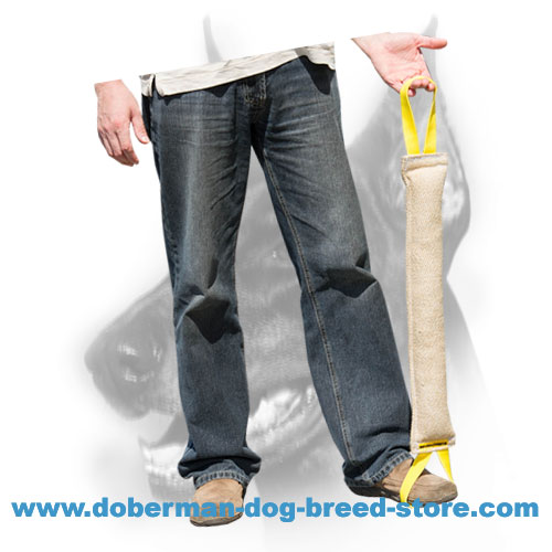Doberman Dog jute tug for Schutzhund training