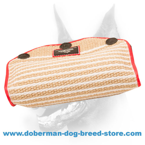 Doberman dog bite builder of strong and reliable jute material
