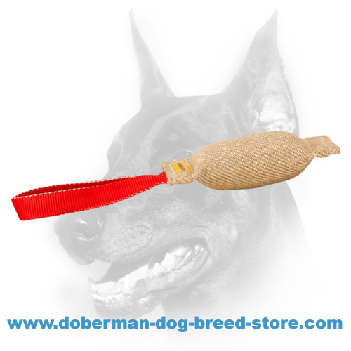 Doberman Dog training tug made of hypoallergenic materials