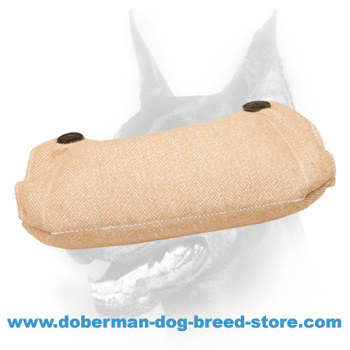 Doberman dog bite builder of strong and reliable jute