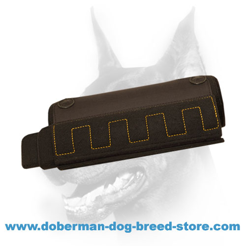 Doberman Puppy/ young dog Training Bite Sleeve with convenient inside handles