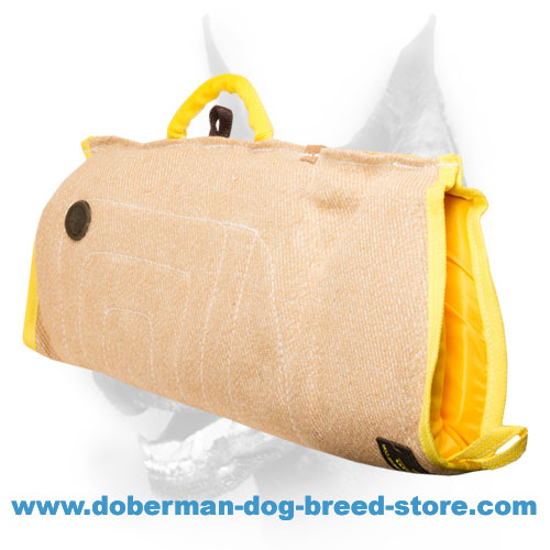 Doberman dog sleeve of Strong natural Jute material