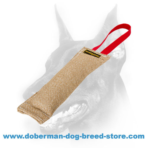 Doberman Dog training tug with soft and safe filling