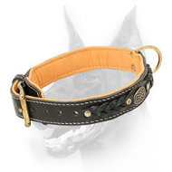 Royal Doberman Collar Padded with Soft Nappa Leather