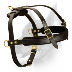 Heavy duty dog leather harness